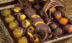Dried fruits in chocolate